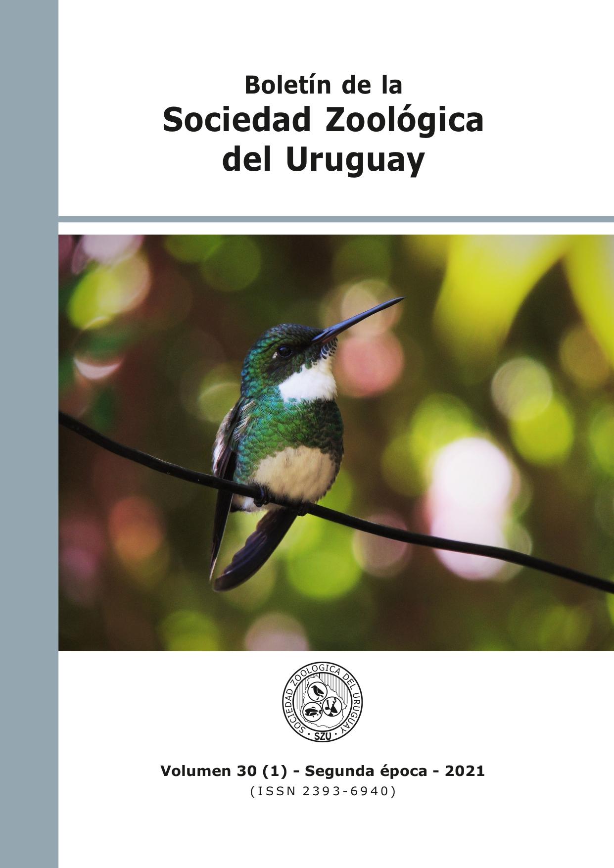 Ver Vol. 30 Núm. 1 (2021): Boletín de la Sociedad Zoológica del Uruguay