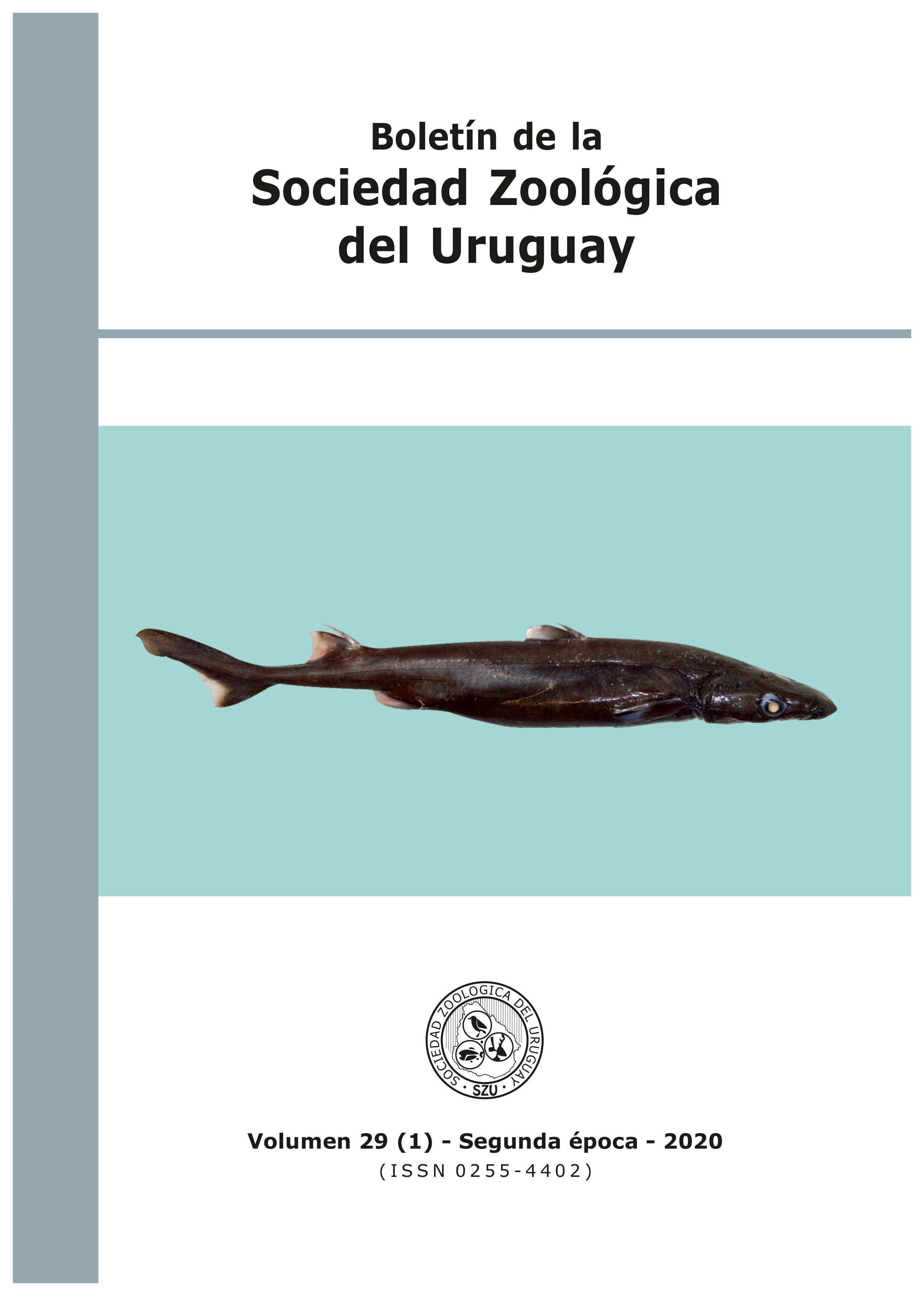 Ver Vol. 29 Núm. 1 (2020): Boletín de la Sociedad Zoológica del Uruguay