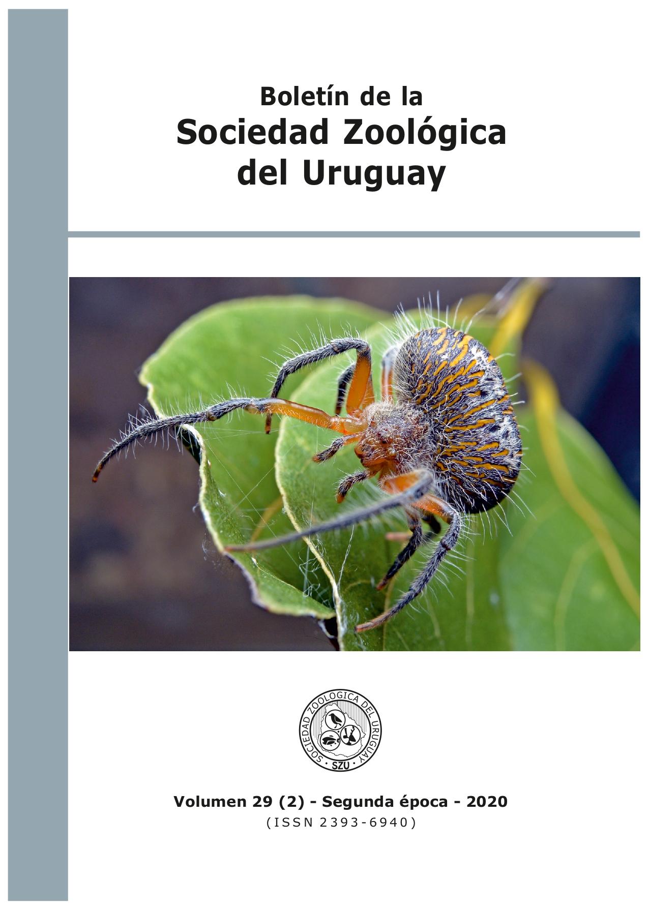 Ver Vol. 29 Núm. 2 (2020): Boletín de la Sociedad Zoológica del Uruguay